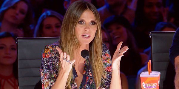 Screenshot of Heidi Klum on America's Got Talent NBC