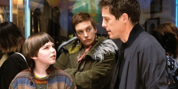 Nicholas Hoult, Toni Colette and Hugh Grant in About a Boy