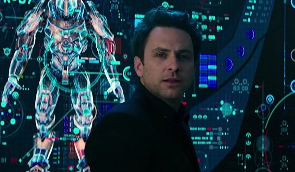 Pacific Rim Uprising Dr. Newt Geiszler Charlie Day in the middle of breaching the firewall