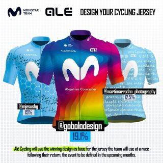 Movistar have unveiled the winner of their competition to design a one-off jersey to help raise money for the Spanish Red Cross and Italy's Protezione Civile