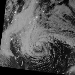 Hurricane Sandy Night View