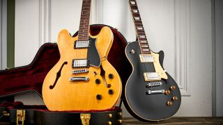 Heritage H-535 and H-150 electric guitars