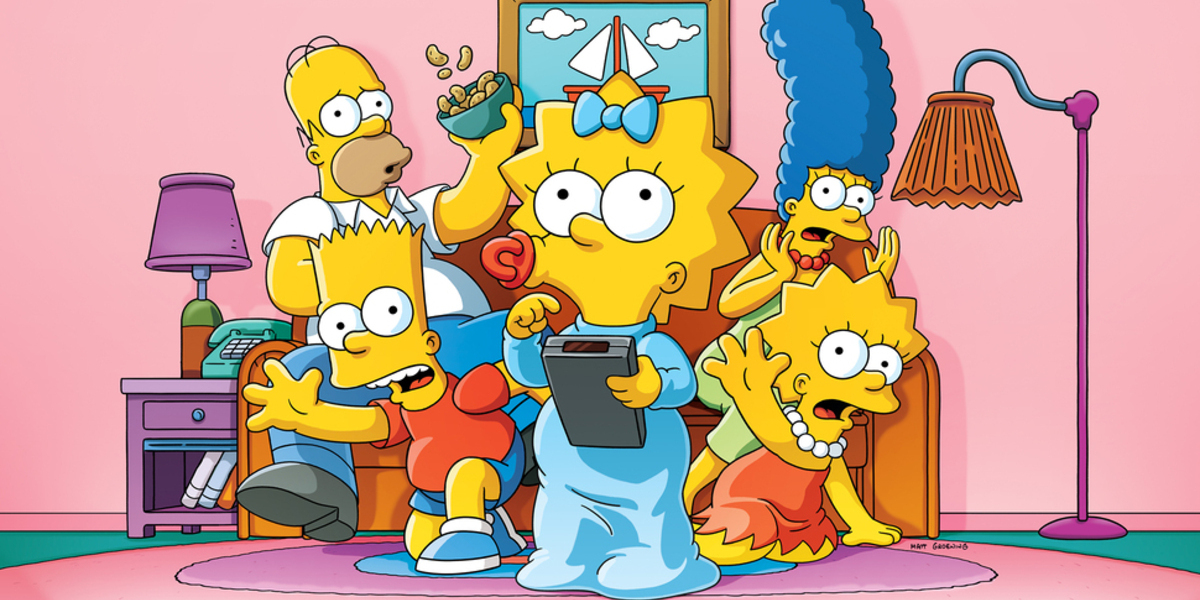 the simpsons family couch fox