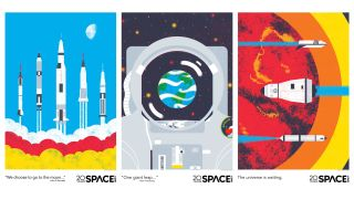 Here's Three Free Posters Celebrate NASA's Apollo Anniversaries (and Space.com's, Too!)