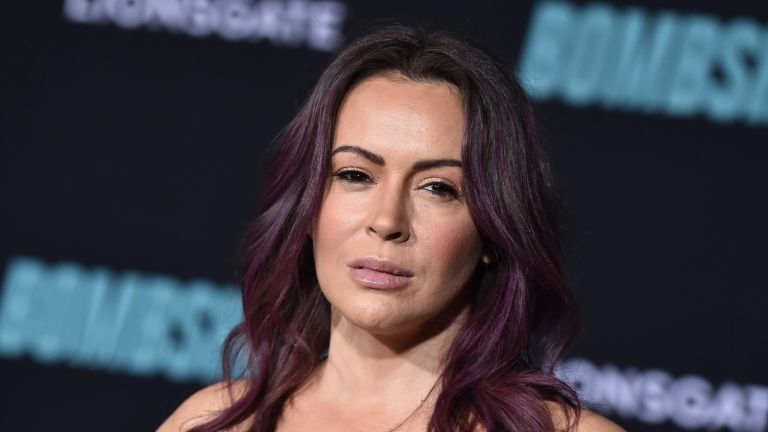 Alyssa Milano was riding in her uncle's car on a Los Angeles highway when the crash occurred