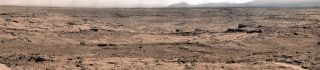 Mars panorama from Curiosity rover