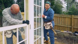 'Southern Living' host Ivy Odom and her father build a greenhouse.