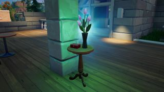 vase of flowers in Lazy Lake in Fortnite for challenge