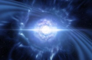On Aug. 17, 2017, detectors spotted gravitational waves produced by the collision of two neutron stars (shown in this artist's impression). The scientists also observed a gamma-ray burst from the energetic event.