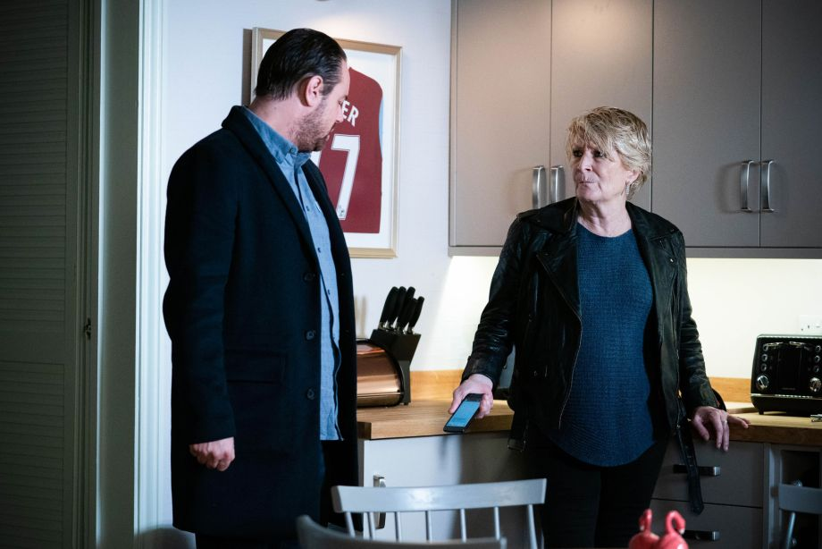Mick finds out about Tina's text in EastEnders