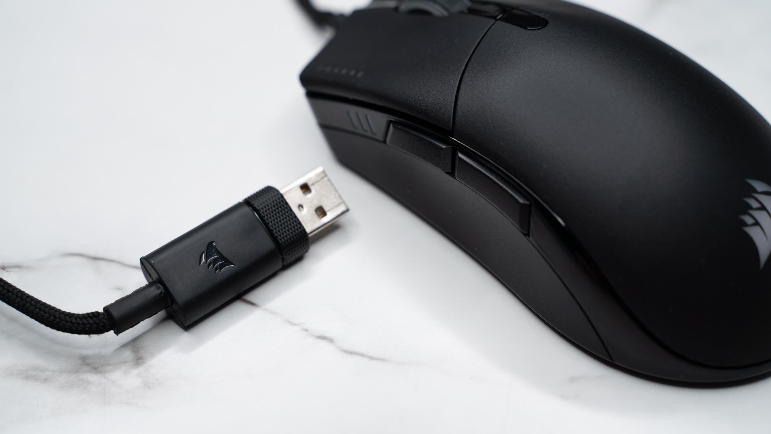 The Corsair Sabre RGB Pro Champion Series has USB connectivity.