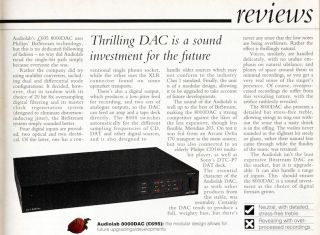 That Was Then... Audiolab 8000DAC review