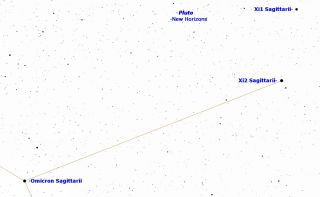 Pluto Sky Map July 1, 2015