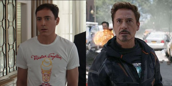 Tony Stark de-aged for Marvel and regular age in Infinity War