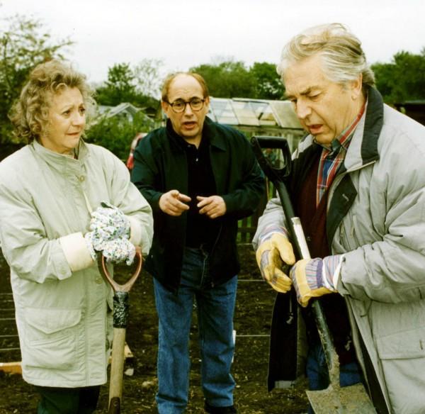 Thelma Barlow as Mavis and Peter Baldwin as on-screen husband Derek in Coronation Street