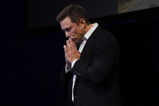 Elon Musk speaks at the International Astronautical Congress on Sept. 29, 2017 in Adelaide, Australia, where the Tesla and SpaceX CEO detailed the long-term technical challenges that need to be solved in order to support the creation of a permanent, self-
