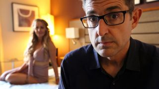 Louis Theroux with contributor Victoria