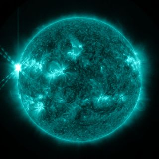 On May 13, 2013, an X2.8-class flare erupted from the sun -- the strongest flare of 2013 to date.