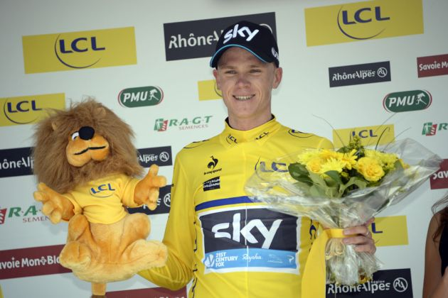 Chris Froome wins stage one of the 2014 Criterium du Dauphine