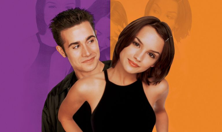 Jan 29, 1999; Cerritos, CA, USA; Actress RACHAEL LEIGH COOK stars as Laney Boggs with FREDDIE PRINZE Jr as Zach Siler in 'She's All That.'
