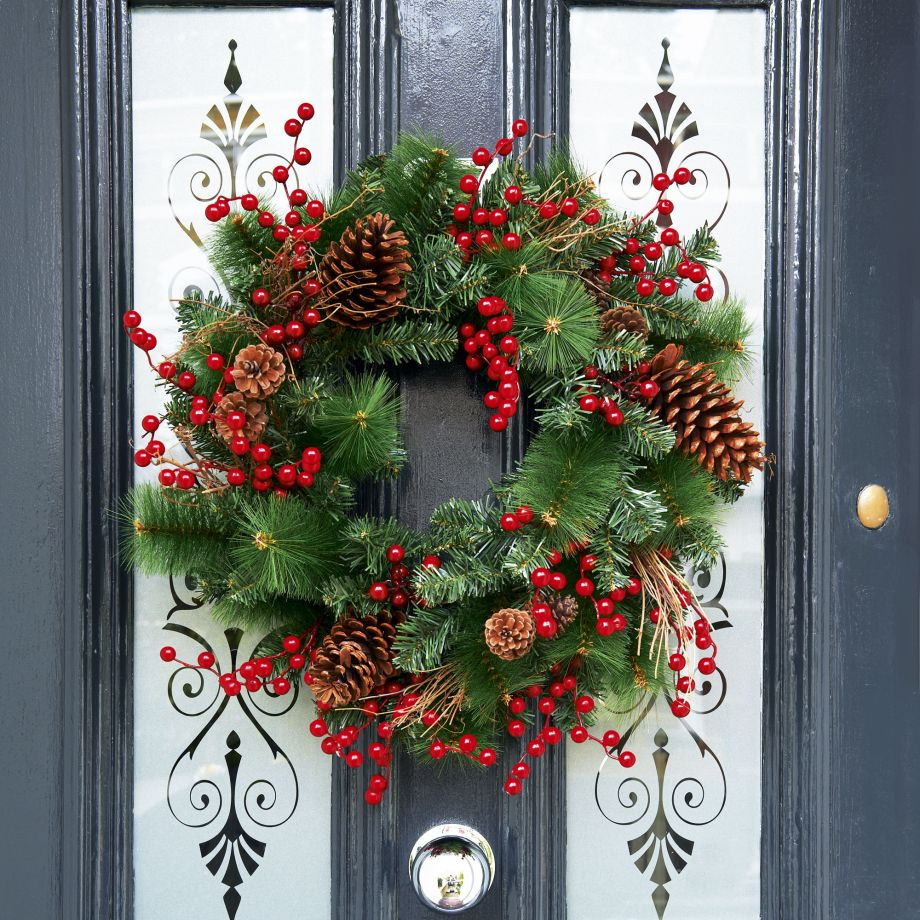 Superior Christmas Wreath On Door