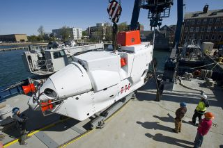 Upgraded Alvin submersible