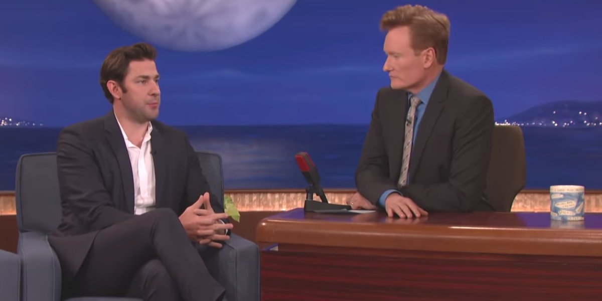 John Krasinski with Conan O'Brien on Conan