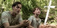 That Time IT's Bill Skarsgard Made His Devil All The Time Co-Star Cry Over Pennywise
