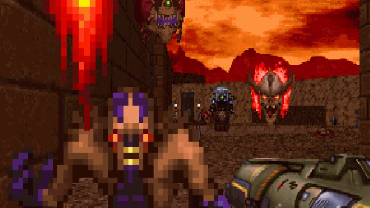 Doom 2016 fell through a time-warp and became a DOS