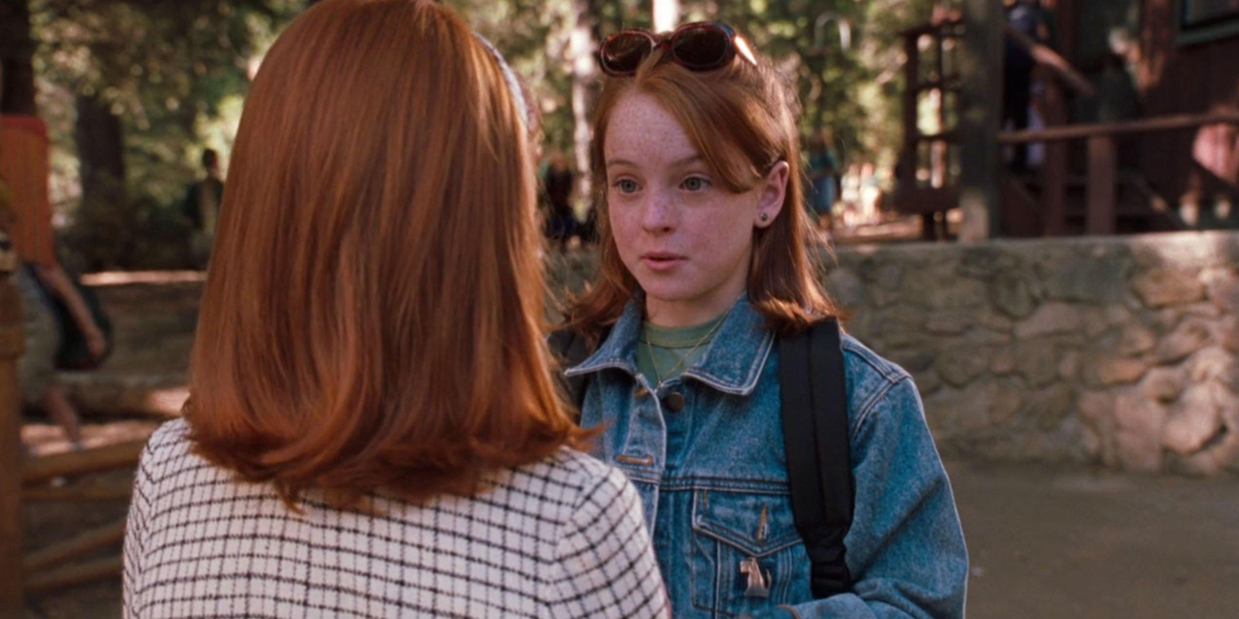 Lindsay Lohan saying goodbye to... Lindsay Lohan.