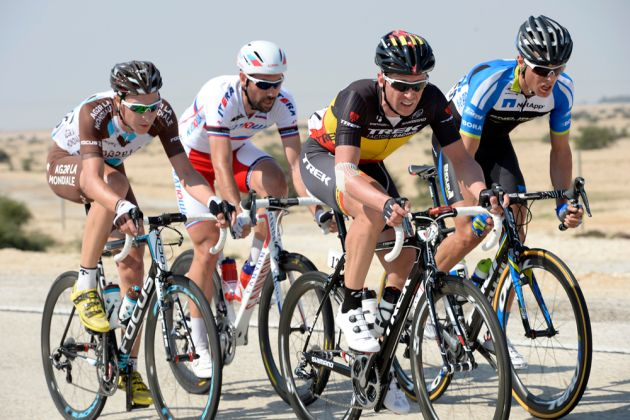 Escape group during stage five of the 2014 Tour of Qatar