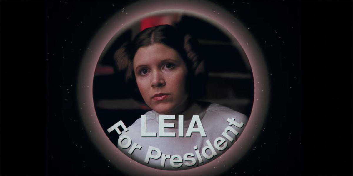 Leia For President pin