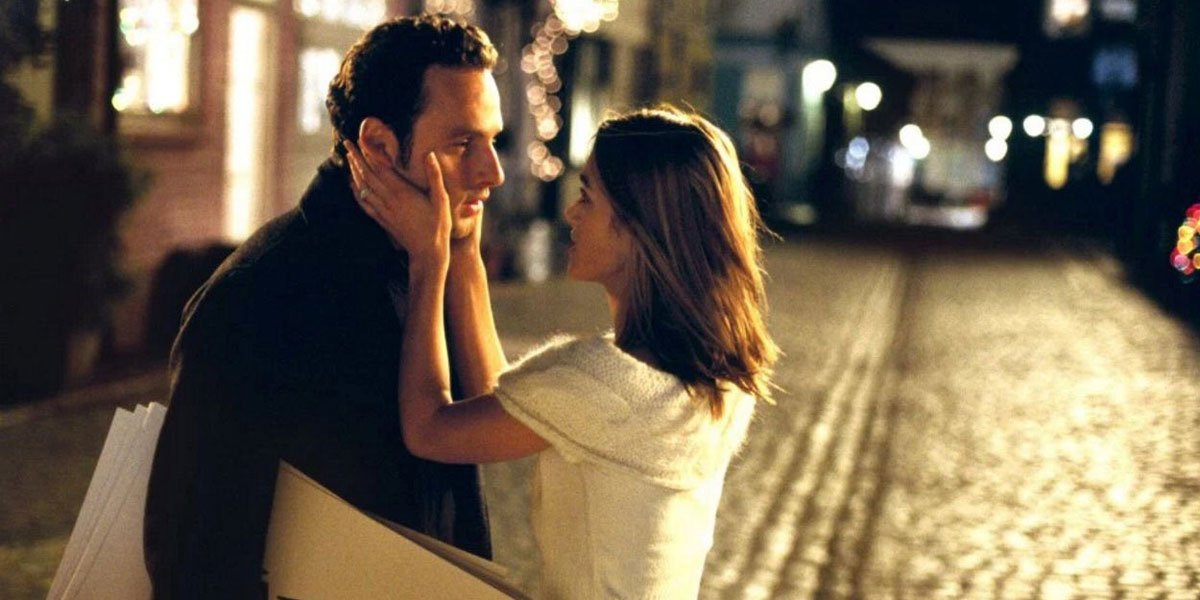 Andrew Lincoln and Kiera Knightley in Love Actually 2003 still