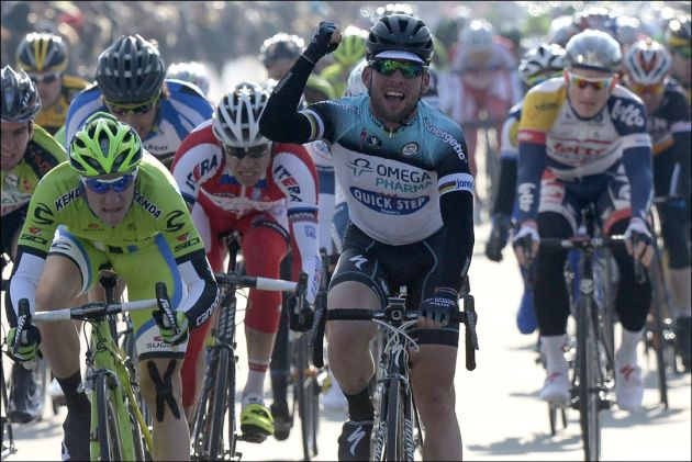 Mark Cavendish wins stage two of Three Days of De Panne 2013
