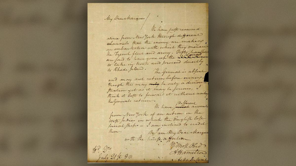 Read the Long-Lost Letter from Alexander Hamilton to the Marquis de Lafayette, Stolen 60 Years Ago