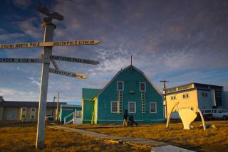 Photo of house in Barrow Alaska, northernmost point in USA.