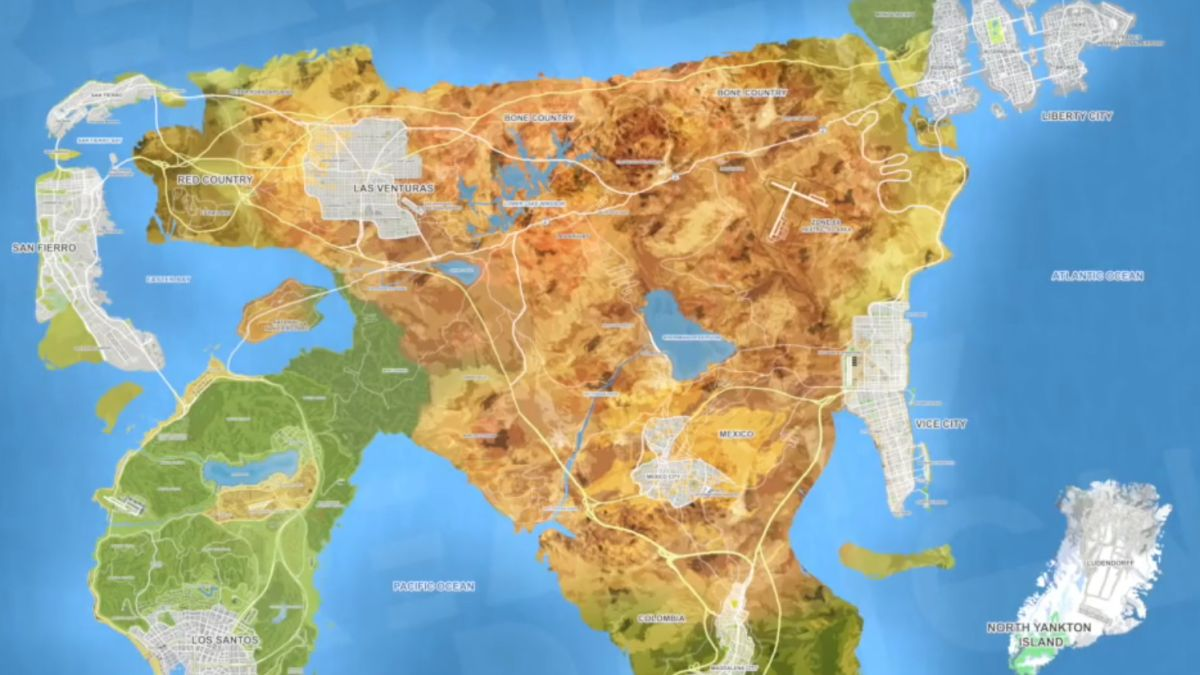 Gta 6 Map Of America.Gta 6 All The Latest News And Rumors For Grand Theft Auto 6 Techradar