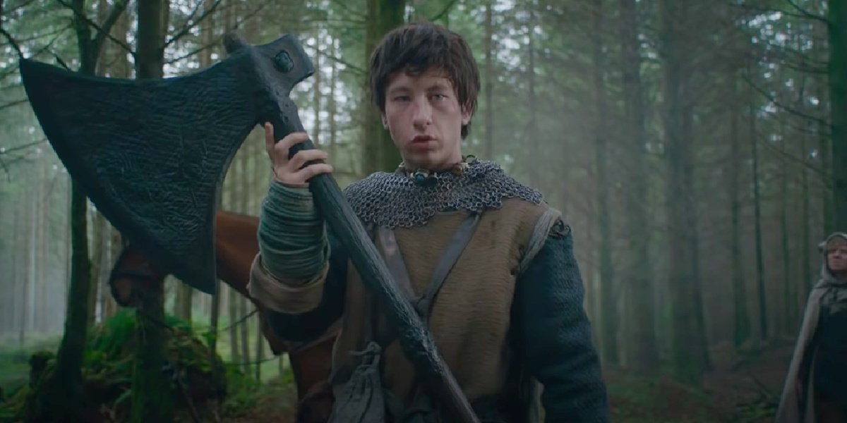 Barry Keoghan in the trailer for The Green Knight.