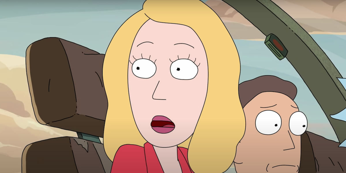 Beth Smith, voiced by Sarah Chalke in Rick and Morty