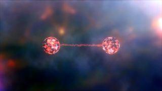 An artist's impression of quantum entanglement.