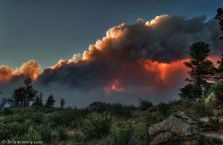 photo of the High Park Fire in Colorado taken June 10, 2012.