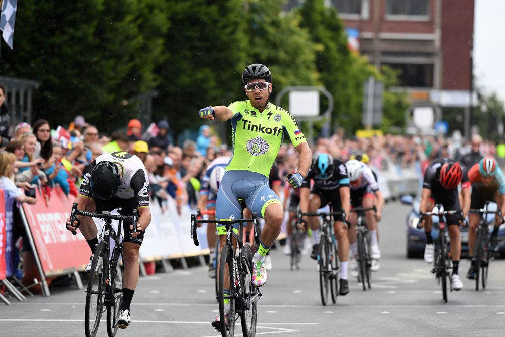 Thumbnail Credit (cyclingweekly.co.uk): Tinkoff rider Adam Blythe outsprinted Mark Cavendish in the National Road Race Championships to give him his first win in almost two years