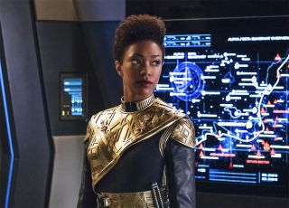 Sonequa Martin-Green as First Officer Michael Burnham in 'Star Trek: Discovery,' a show to be featured on Paramount Plus.