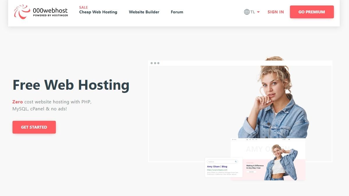 000webhost's website