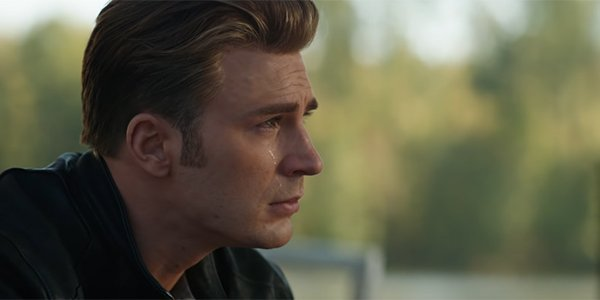Captain America crying in Avengers: Endgame