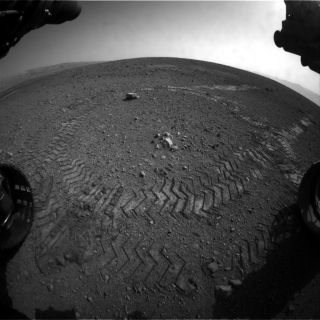 Curiosity's First Tracks on Mars