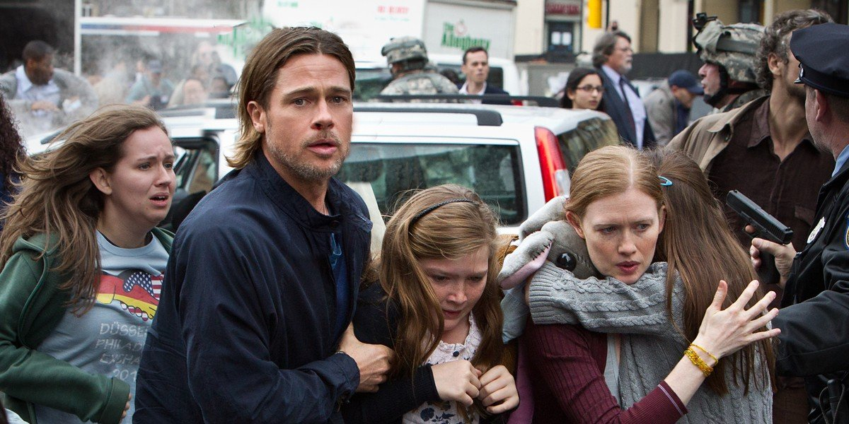 Brad Pitt in the forefront
