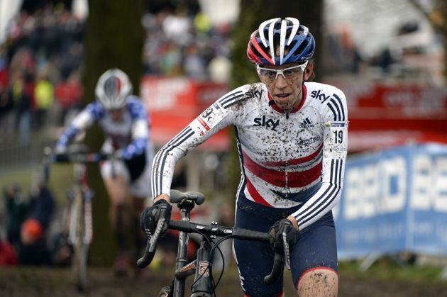Helen Wyman on her way to Bronze in the World 2014 Cyclo-cross champs