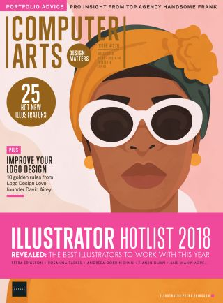 Computer Arts issue 276 magazine cover with Illustrator Hotlist 2018