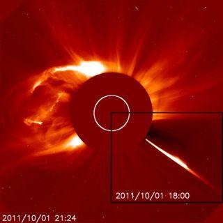 Huge coronal mass ejection